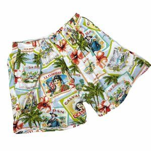 Jams World VintageCalvano Print Hawaiian Shorts XL